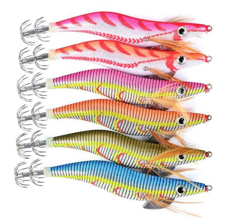 Artificiale gamberetti calamari richiamo 13cm 21g 3.5 # Coda Nottilucenti gamberi esche Ganci di pesca a mosca