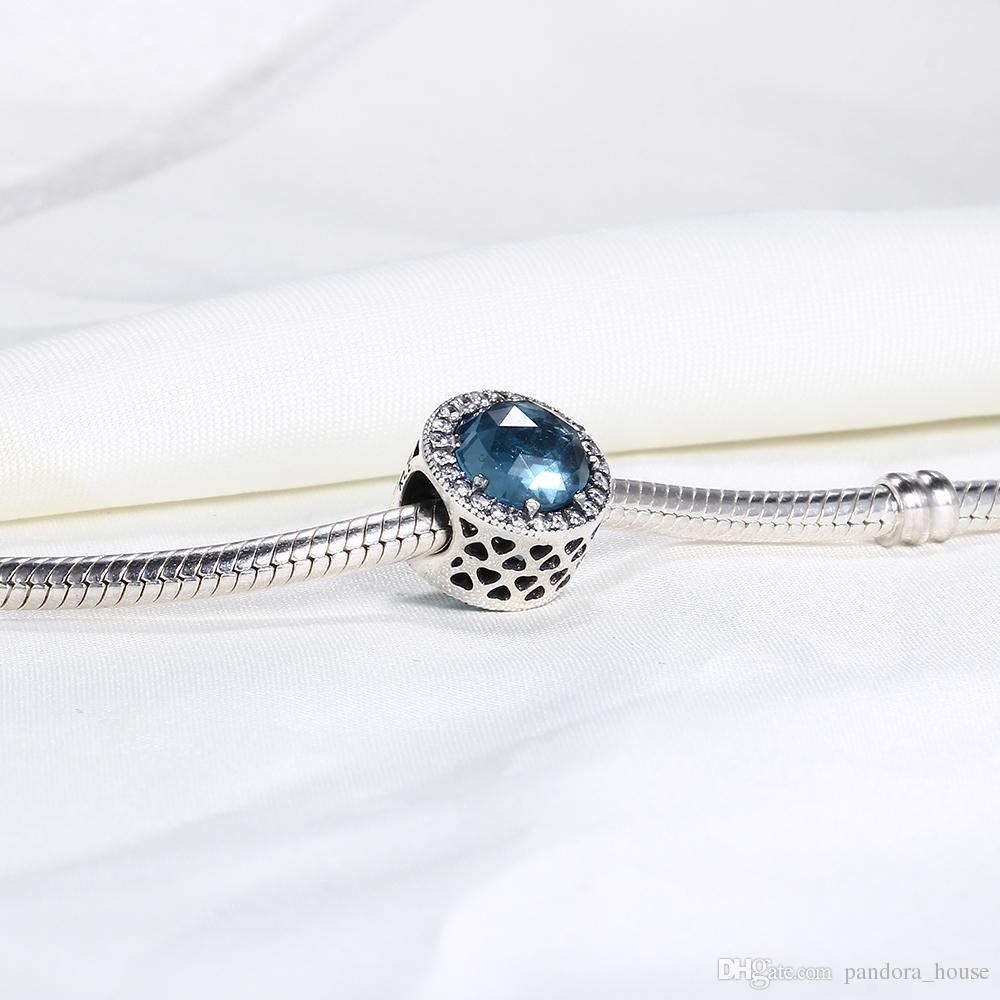 Real 925 plata esterlina no chapado BLUSH PINK RADIANT corazón CZ encantos de los granos europeos Fit Pandora serpiente cadena pulsera DIY joyería