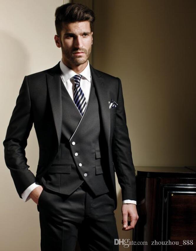 2018 Latest Coat Pant Design Men Suits Fashion Groom Wedding Suit ...