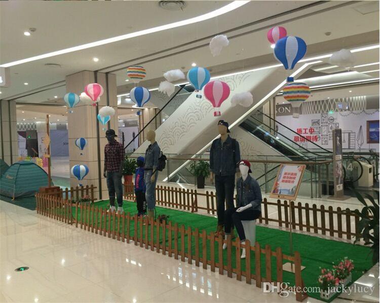 "40cm 16"" hot air balloon lanterns marriage wedding birthday party decoration bar stage mall nursery corridor lantern Charm"