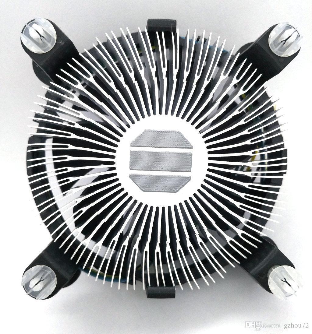 Nueva Original para Intel 1155 1156 1150 775 radiador de aluminio 4 Wires PWM Computer CPU Cooler ventilador