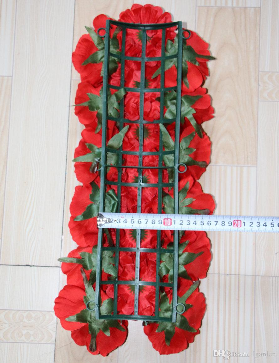 wedding road lead artificial silk rose and chrysanthemum for Wedding arch square pavilion corners decorative /