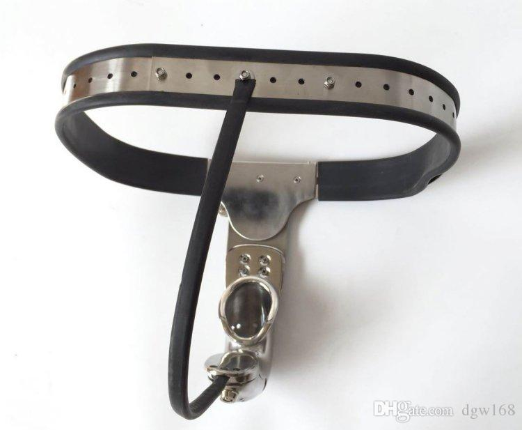 Newest Male Fully Adjustable Model-T Stainless Steel Premium Chastity Belt with Hole Cage Cover BDSM Sex Toys