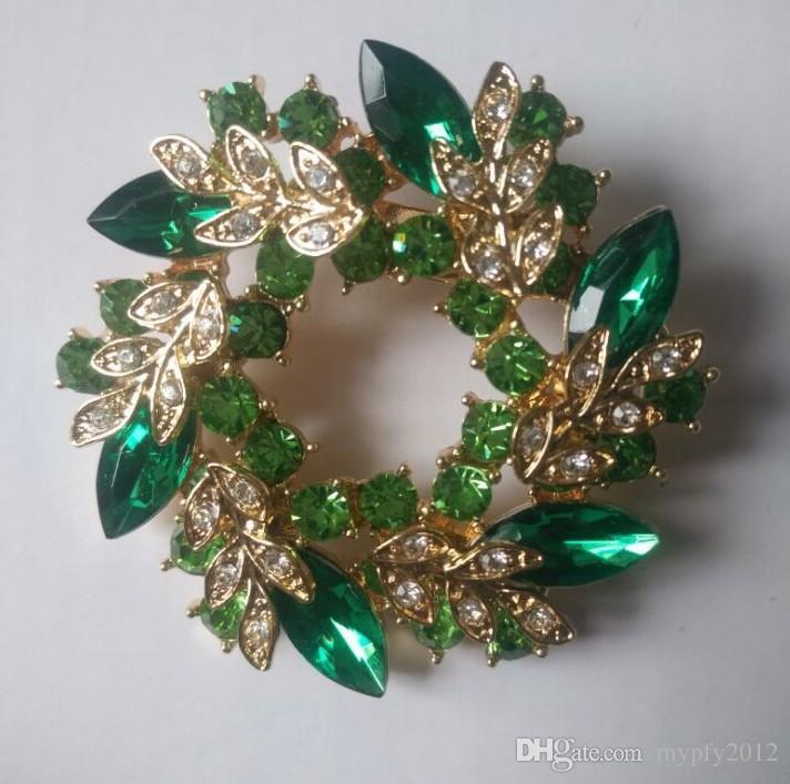 Multi Color Shining Crystal Petal Flower Pin Broches voor Vrouwen Bruiloft Geschenken Broche Sjaal Gesp Sieraden YZ