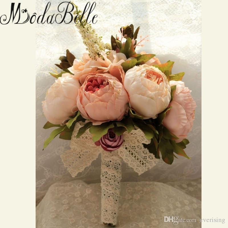 Vintage Western Style Wedding Bouquet For Brides Crystal Flowers