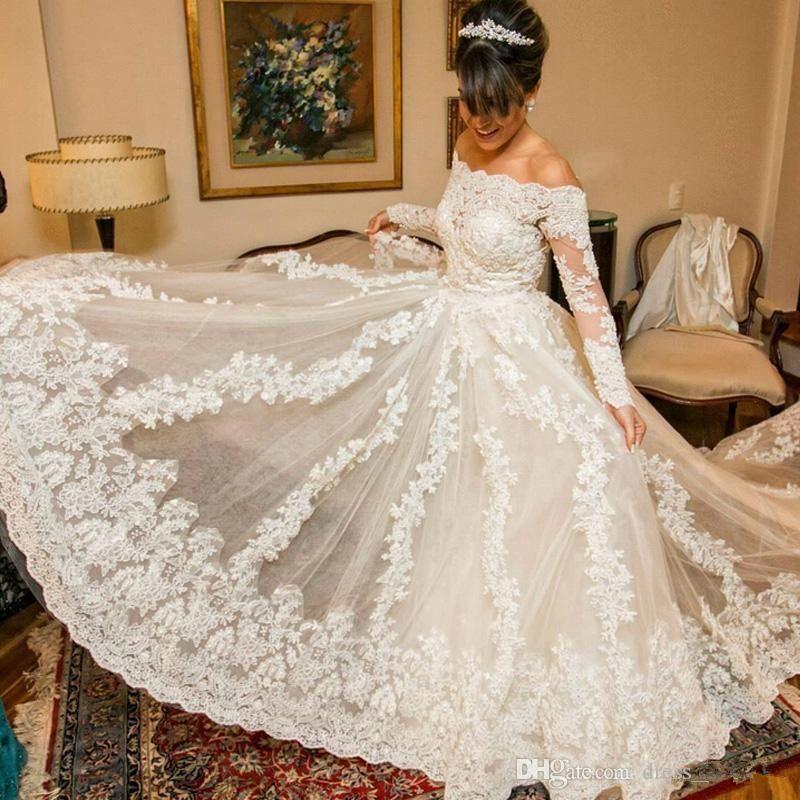 Arabian Lace Wedding Dresses