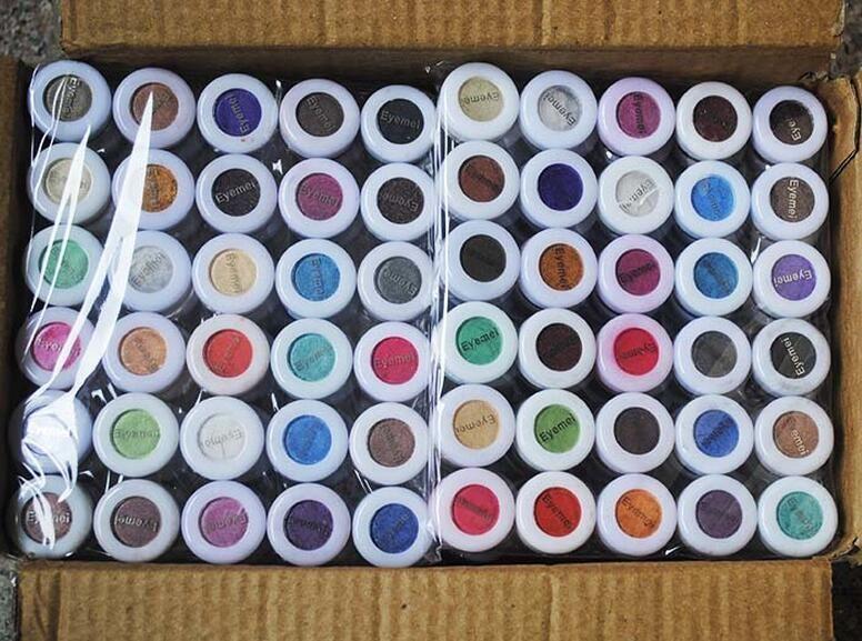 PRO Glitter Lidschatten Lidschatten-Palette Make-up Schimmer Pulver Pigment Mineral Glitzer Spangment Einzelfarbe Lidschatten Puder 60 Farben