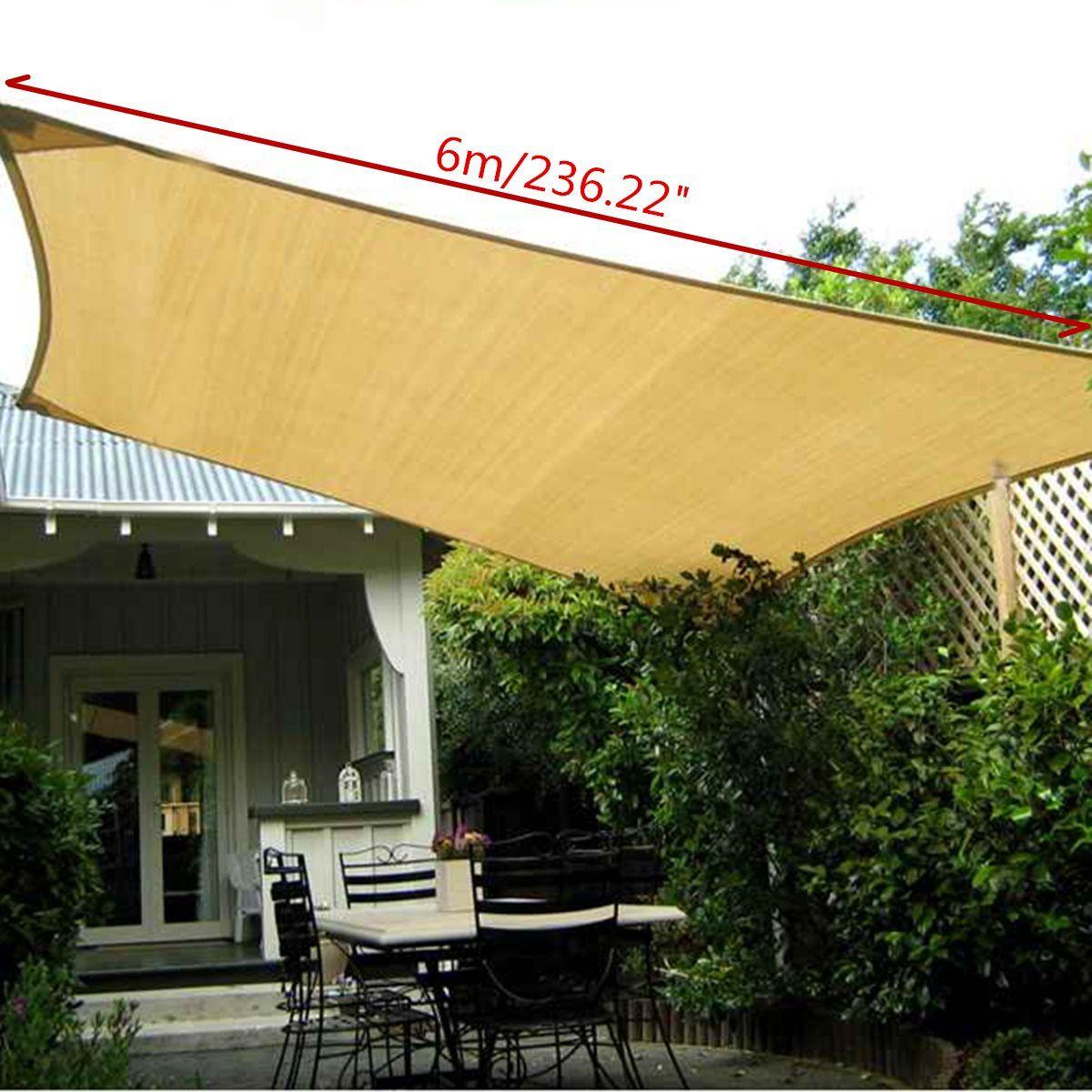 Großhandel Rechteck Sun Shade 6x4m Polyester Segel Outdoor Garten Uv