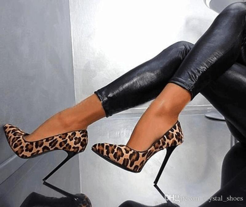 40998d90724e Hot Popular Women Ultra High Heels Leopard Print Pointed Toe Stilettos Slip  on Zapatos Mujer Fashion Women Party Shoes Wedding Shoes Woman High Heels  ...