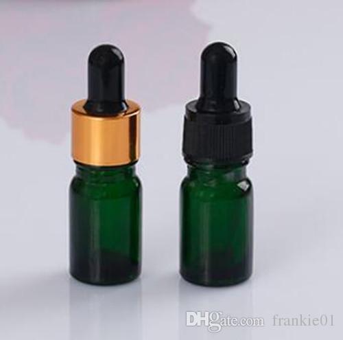 e cigarrillo 5ml jugo de vape Botella de vidrio redonda roja transparente E Botella de vidrio líquida Botella vacía Botellas cuentagotas de vidrio a prueba de manipulaciones