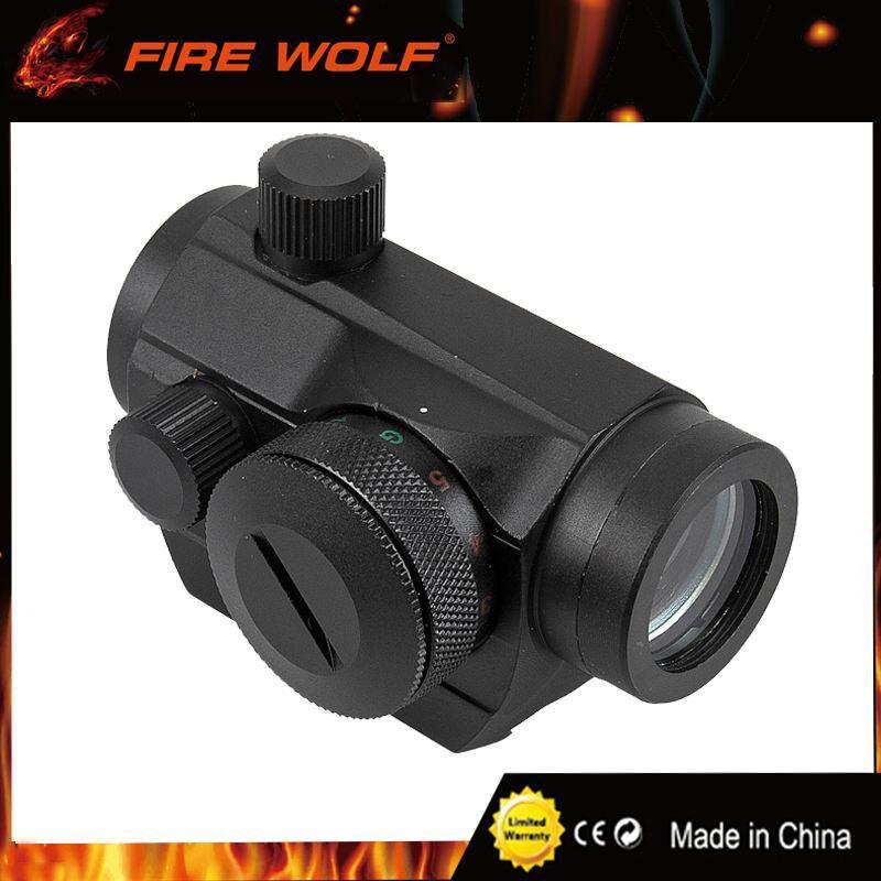 FIRE WOLF Red Dot 20mm Mount Pistol Scope Optics Riflex Hunting Riflescopes  Red Dot Airsoft Air Guns Scopes Holographic Sight