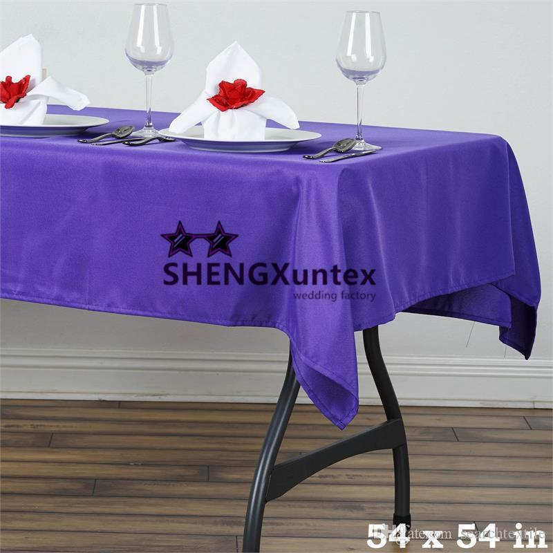 Cheap Price 54*54inch Square Polyester Table Cloth For Wedding Party  Decoration Colorful Tablecloths Wholesale Tablecloth From Searchtextile,  $69.8  Dhgate.