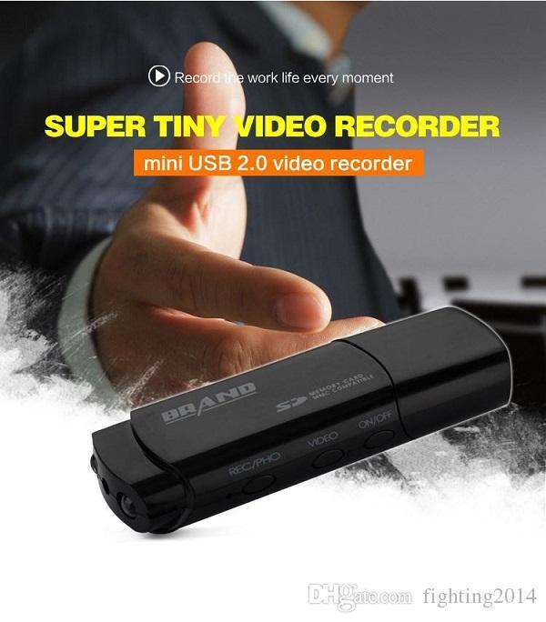 1080 P USB Disco Cámara Full HD U disco Mini DVR Videocámara Unidad Flash USB Grabadora de video Soporte para cámara Visión nocturna Lector de tarjetas DVR