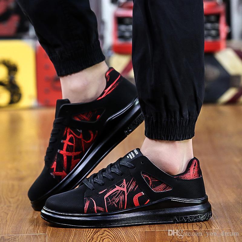 Mejores ventas nuevas zapatillas de ocio de diseño pasional Trend Low top Zapatillas de moda de hombre zapatos envío gratis YonDream 450