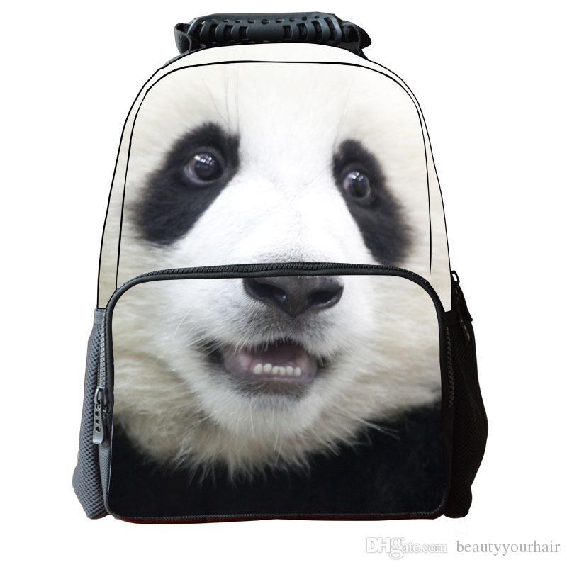 New Fashion 3D Animal Horse Face Backpack Student School Bag Laptop Shoulder Bags Outdoor Sport Travel Bag Rucksacks