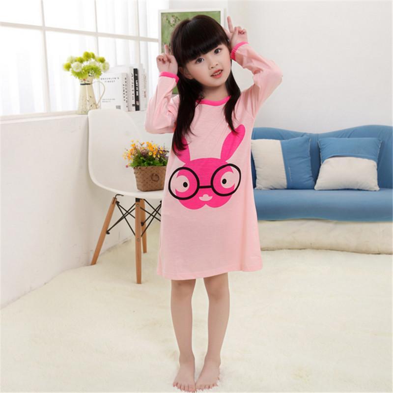 Wholesale Girls Nightgown Cotton Children Night Dress Full Sleeve ...