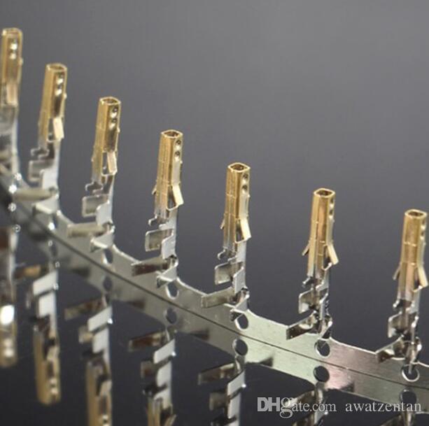 Alta qualità Femmina 5557 ATX / EPS PCI-E terminali placcati in oro placcato perni a crimpare con gambe lunghe