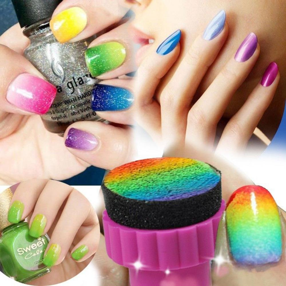 Wholesale Nail Art Sponge Stamp Gradient Color Stamping Template
