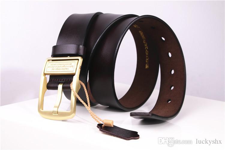 Designer ceintures hommes de haute qualité en cuir véritable ceinture homme mode sangle de vache mâle ceintures pour hommes jeans en cuir de vache