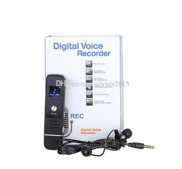 Mini digital Voice Recorder portable USB Flash Driver Dictaphone LCD display Audio voice recorder with mp3 music player support TF card
