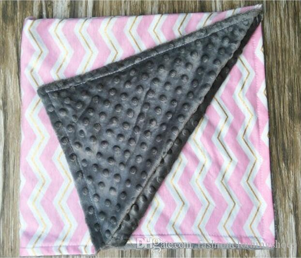 아기 설명서 수동 변덕 담요 줄무늬 인터 레이스 유아 아기 유아 쉐브론 포장 패션 카트 수제 카펫 보육 침구