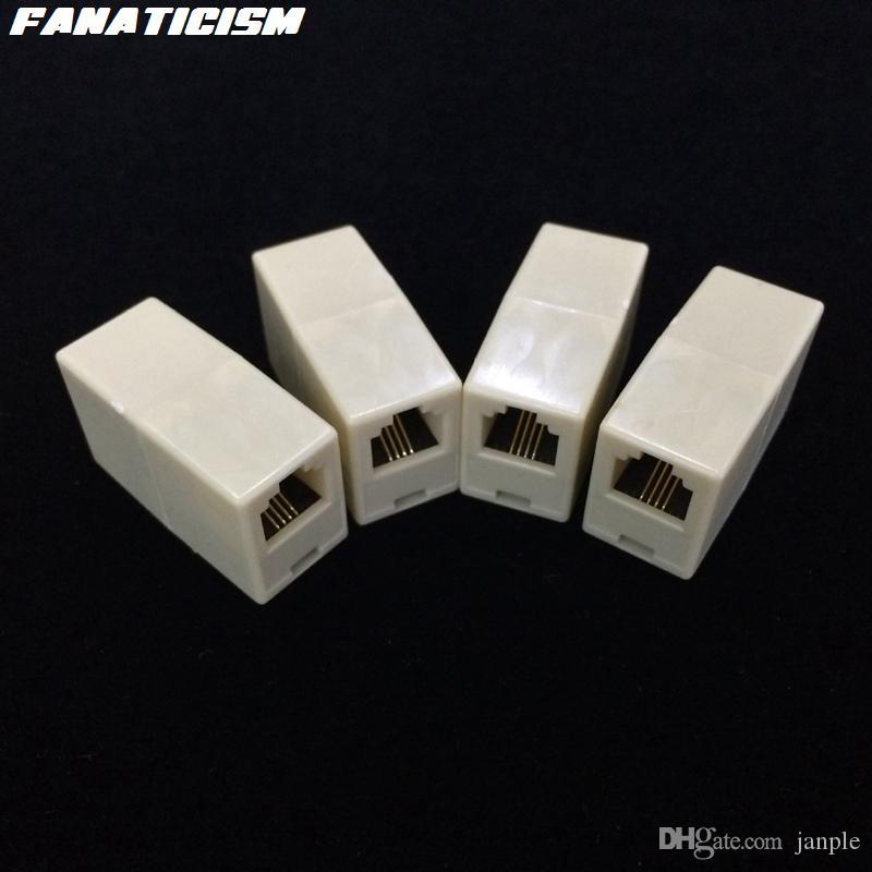 500個/ロット最高品質電話ケーブルエクステンダモジュラープラグ6P4C 6P2C RJ11コネクタケーブルジョイナー拡張コンバータカプラー