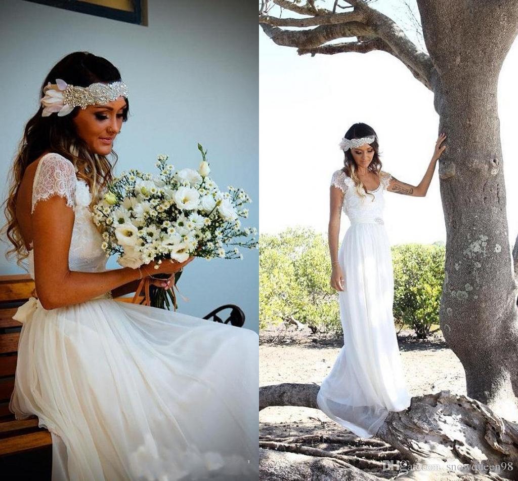 Ivory Greek Goddess 2017 Ivory Bohemia Wedding Dresses: Discount Boho Vintage Ivory Lace Wedding Dresses 2017