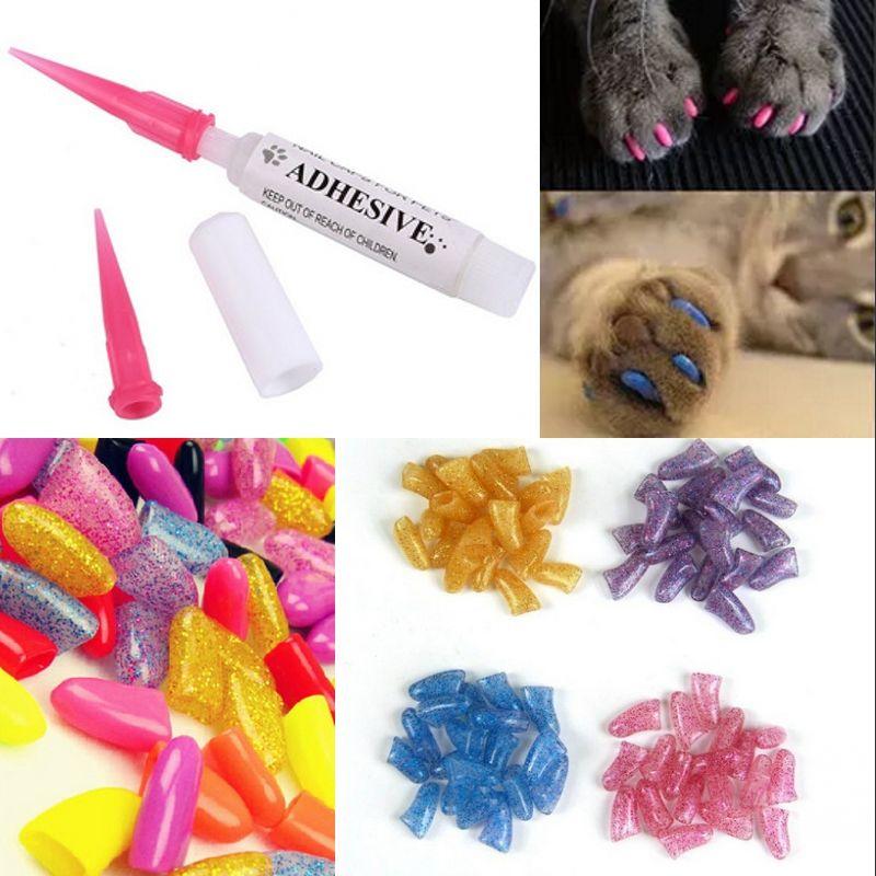 2018 Pet Grooming Supplies Nail Covers Random Pet Nail Caps Claw ...