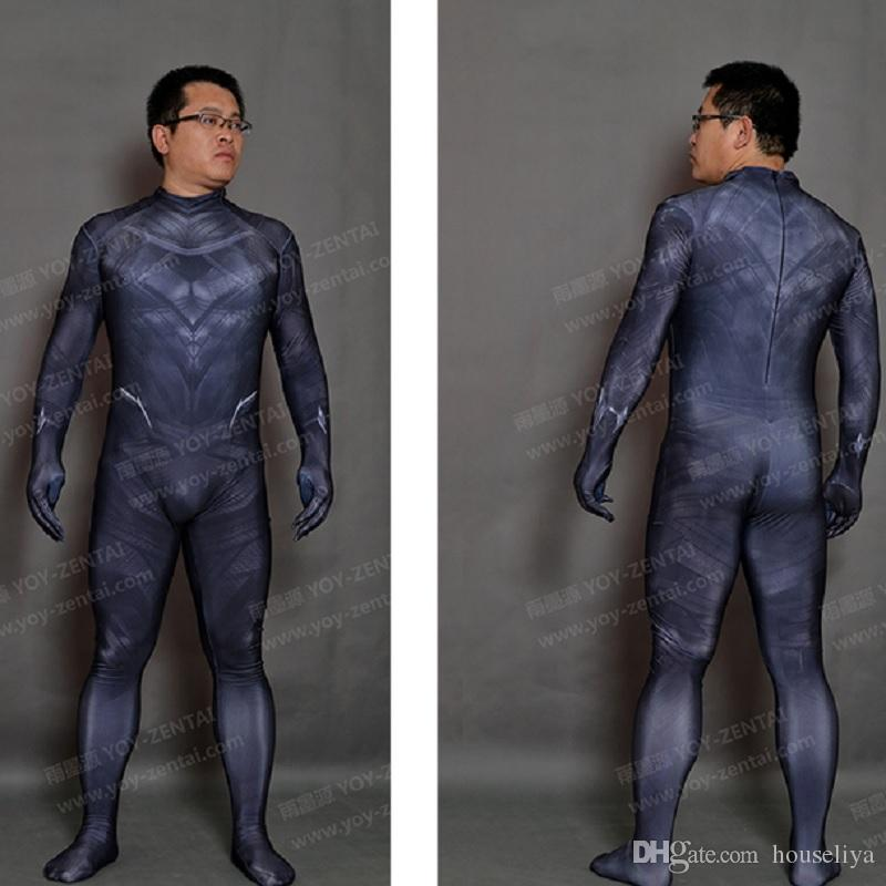 Halloween Body Suit | Black Panther Costumes Adult Black Panther Costume Civil War Cosplay