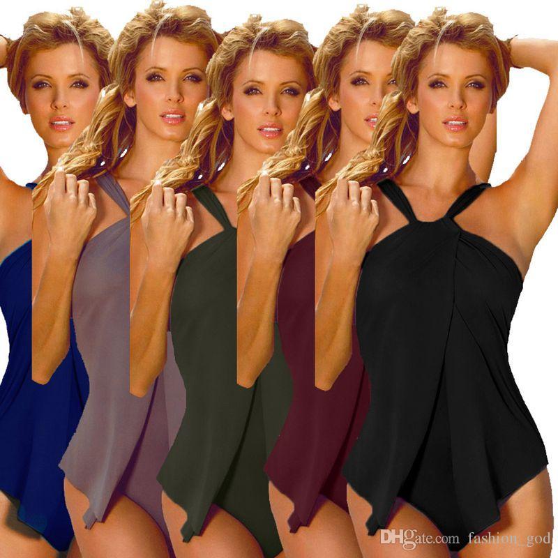 28da8656426 Swimwear Women Sexy Swimsuit Halter Tankini One Piece Bikini Fashion  Monokini Retro Beachwear Summer Bathing Suits Vintage Bodysuit D543 UK 2019  From ...