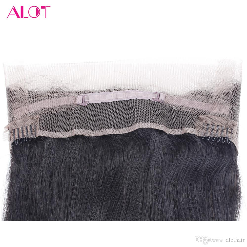 Human Hair Lace Front Wigs 100% Brazilian Virgin Hair 360 Lace Human Hair Wig 22.5*4*2 Straight Lace Front Wigs For Black Women