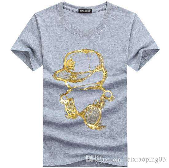 Envío gratis Hot 2017 nuevos colores del diseño de la camiseta de los hombres moda fresca Tops camisetas de manga corta