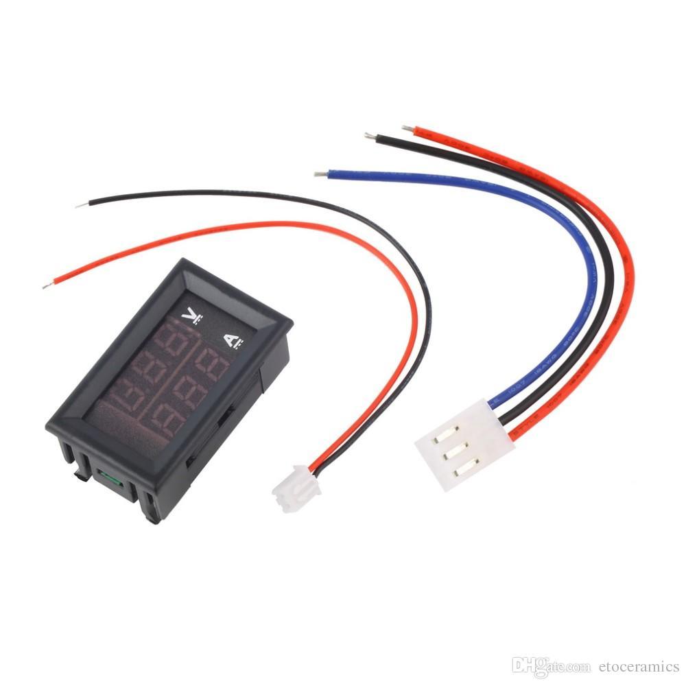 新しいDC 100V 10A電圧計電流計青+赤LEDデジタルボルトメーターゲージ