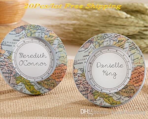 Wedding And Party Favors Around The World Vintage Map Place Card
