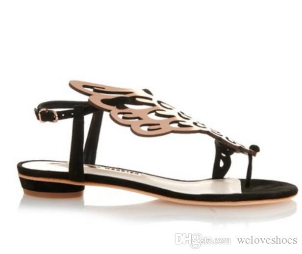 2017 مثير المرأة الذهب حجر الراين صندل المصارع الصنادل كعب مسطح أجنحة الصنادل أحذية الزفاف بريق حزب الأحذية فراشة الأحذية