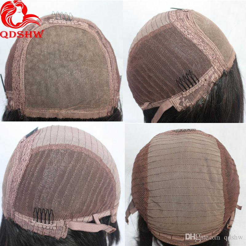 Silk Top Full Lace Bob Wig Virgin Brazilian Human Hair Glueless Bobs Short Wavy Front Bob Silk Base Lace Wigs For Black Women