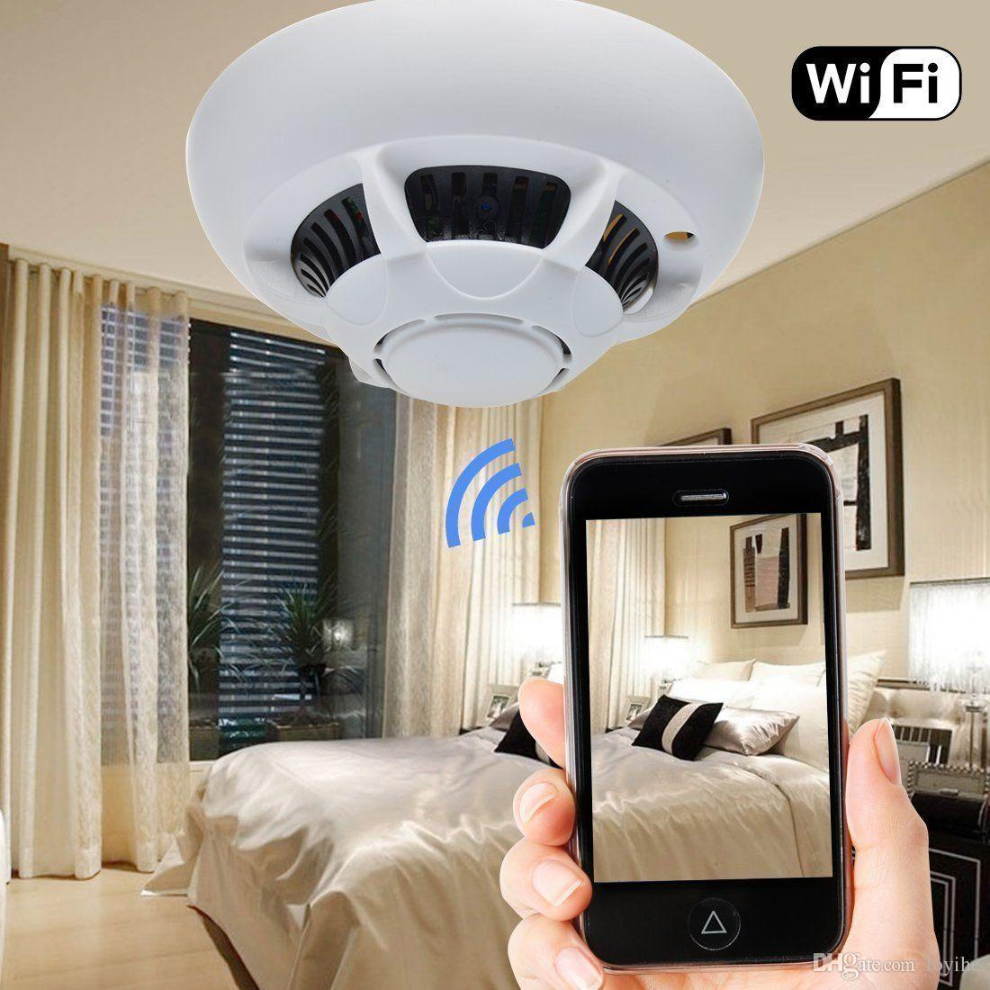 HD WIFI Wireless IP Camera Spy Hidden Camera Smoke Detector Security Video  DVR Cam Recoder P2P For IPhone Ipad Android Phone Web Security Cameras Web  ...