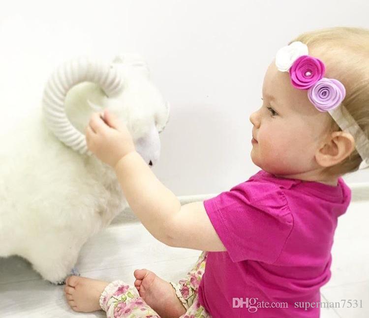 Europa y los Estados Unidos INS nuevos niños 3 pelo con adornos para el cabello DIY mano corona con tocado bebé hairband