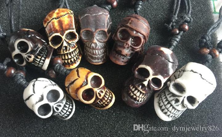 Livraison gratuite yqtdmy Faux Bijoux Gothique Style Mixte Crâne Tête Biker Collier