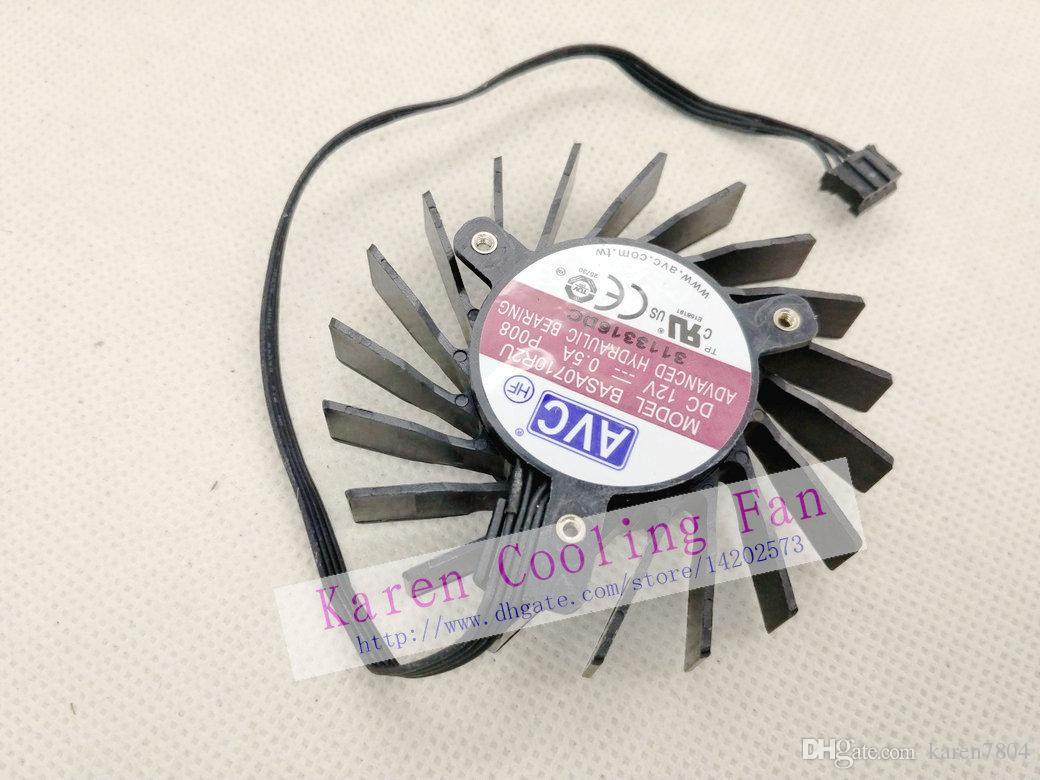 New Original for Quadro Q4000 2GB Graphics card fan AVC BASA0710R2U 12V 0.5A pitch 35MM diameter 65MM