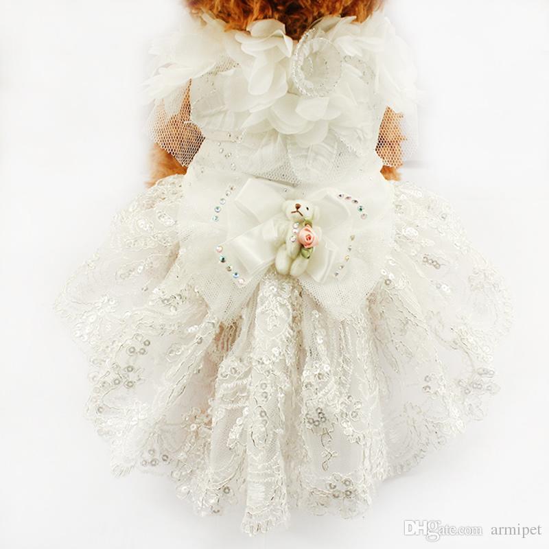 2018 Armipet Puppy Doll Decoration Princess Dog Dress Dogs Wedding ...