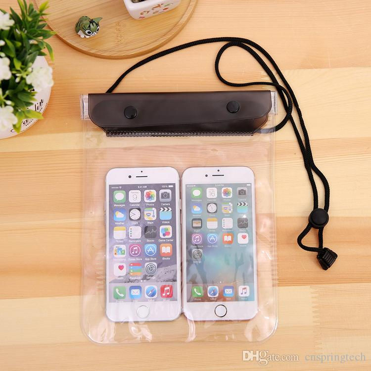 Clear Waterproof Pouch Dry Case Cover Large size For Camera Mobile phone Waterproof Bags for iphone samsung htc huawei