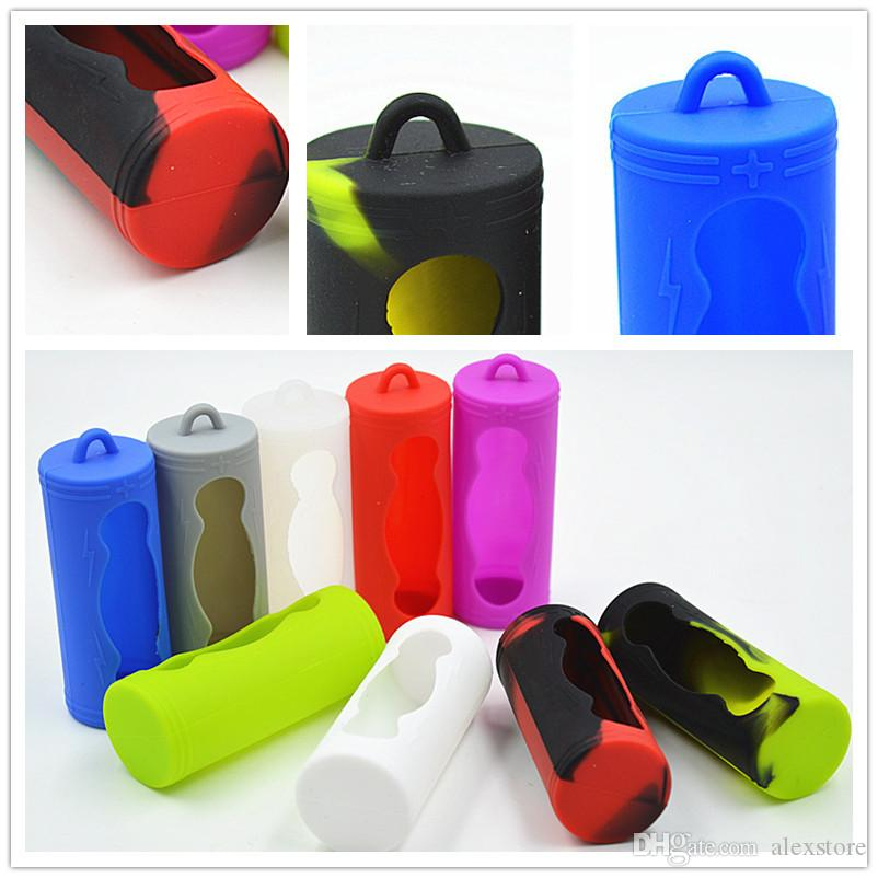 26650 Battery Cover Box Silicone Protective Case Colorful Soft Rubber Skin Protector Holder For ECigs Vape Part 26650 li-ion Batteries Mod