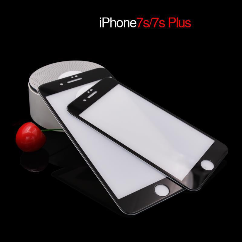 Silk Printing Tempered Glass For iPhone 6 6s 7 8 Plus X Screen Protector Full Cover Protective Film