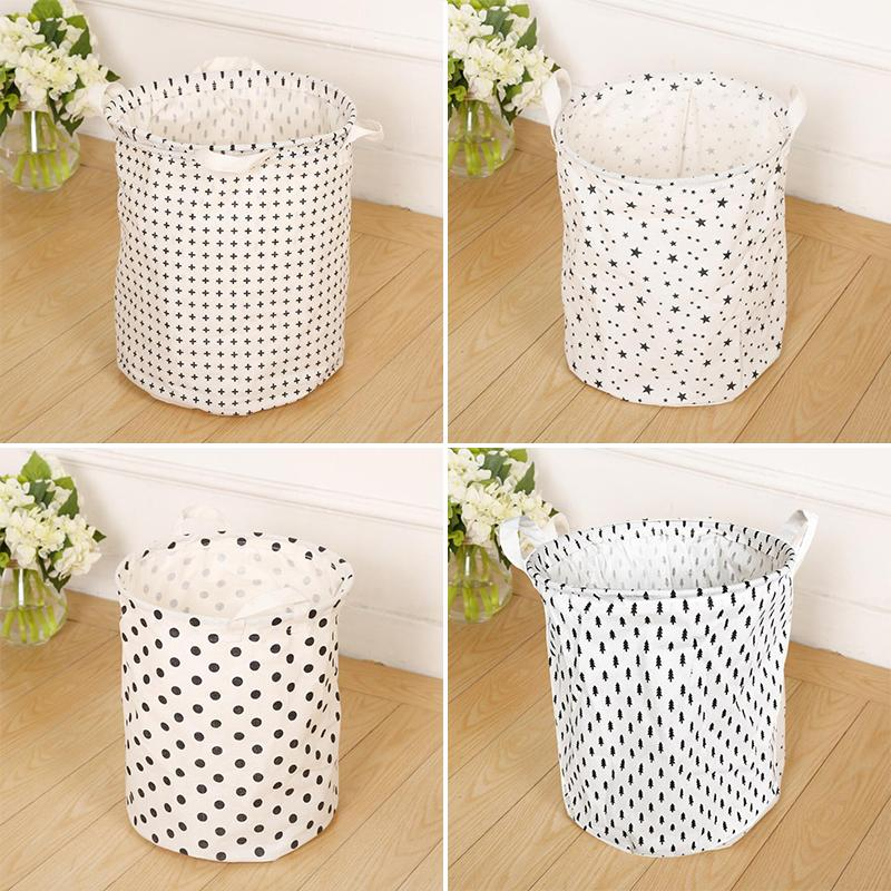 35*40cm Hot Sale Folding Laundry Storage Basket,Corss Star Dot Tree Storage  Barrel,Baby Kids Toy Clothing Storage Basket Room Decor Storage Bag Storage  ...