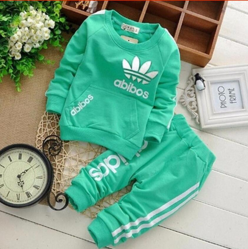 Brand Clothes Sets Newborn Girls Boys Autumn Children Clothing Sets Kids 2pcs Clothing Set Suit Baby Shirt+pants Sets