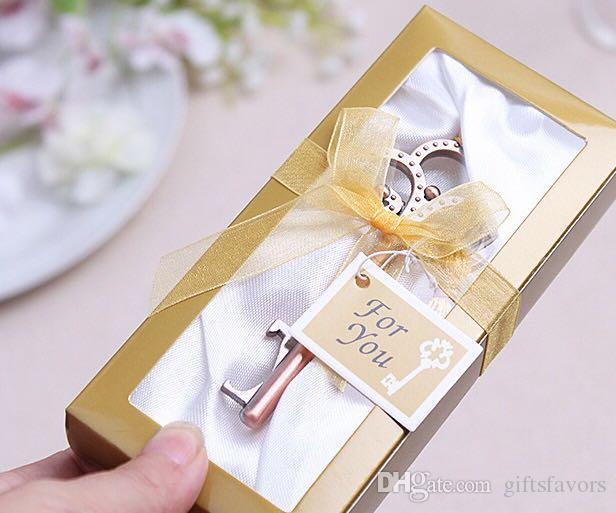 Cheap antique skeleton key bottle opener for unique wedding party favors in bulk