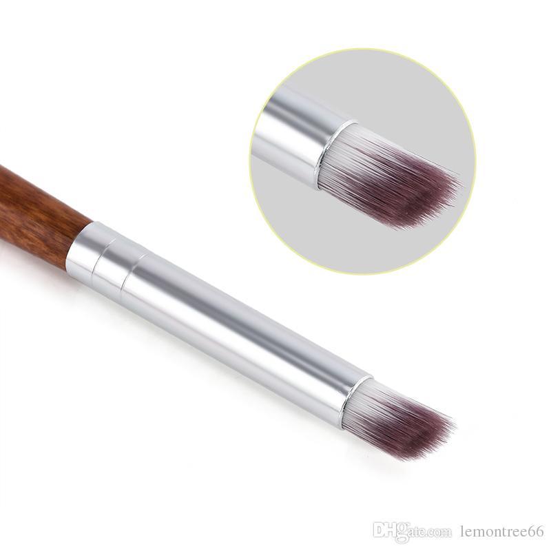 1 PZ Gradiente Cambia Colore Nail Art Colorante Disegno Pittura Pennello angolato Pennello acrilico UV Polacco Graduale fioritura Suggerimenti manico in legno