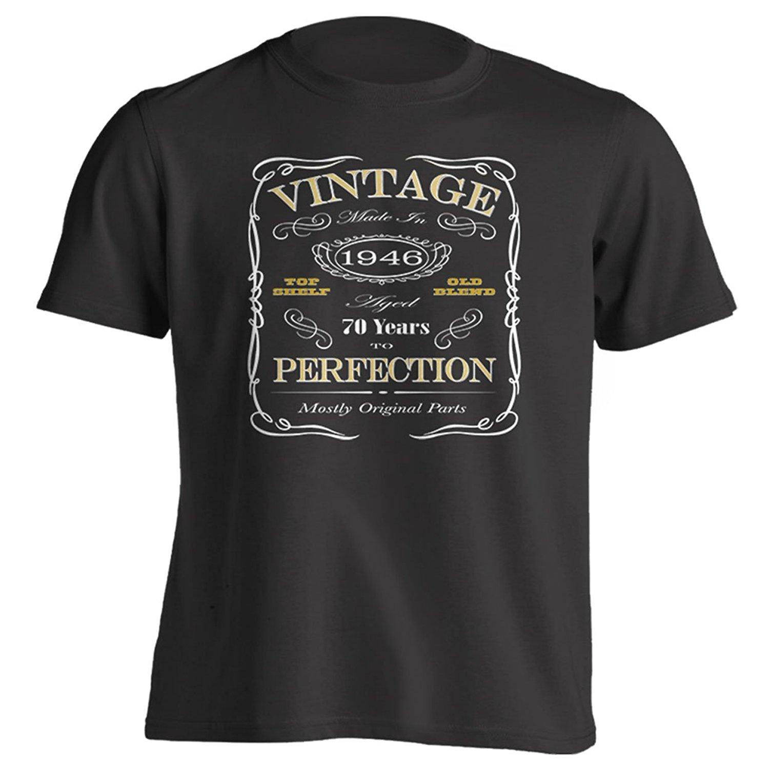 a4cd529e 70th Birthday Gift T-Shirt Born In 1946 Vintage Aged 70 Years To Perfection  Short Sleeve Mens T Shirt Online with $13.15/Piece on Beidhgate05's Store  ...