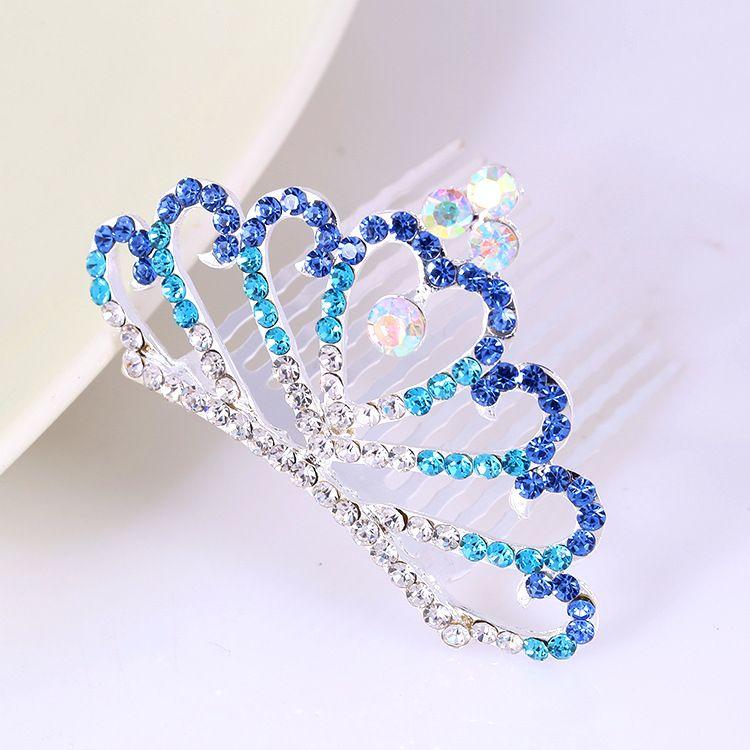 Fashion Bridal Wedding Party Hair Jewelry Women Girls Crystal Crown Rhinestone Tiaras Princess hair Combs Hair Accessories